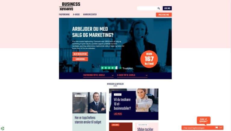 Business Danmark screenshot