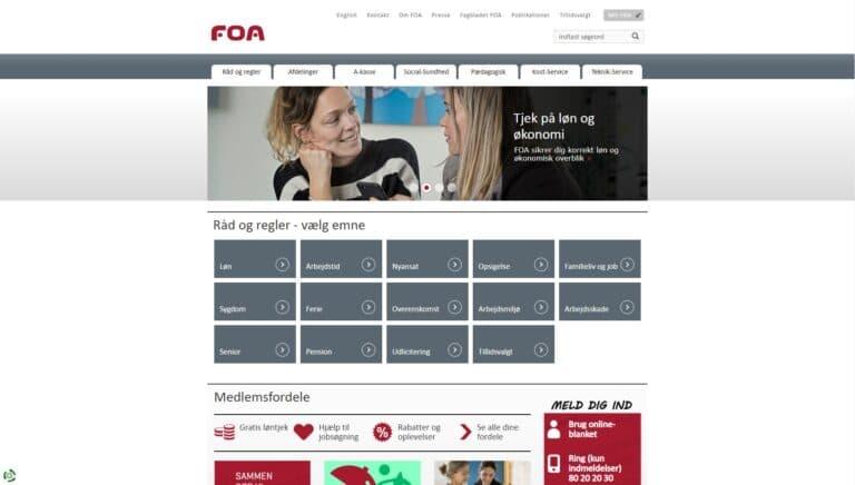 Foa a-kasse screenshot